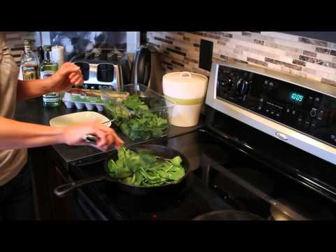 Spinach & Eggs made fast and easy!