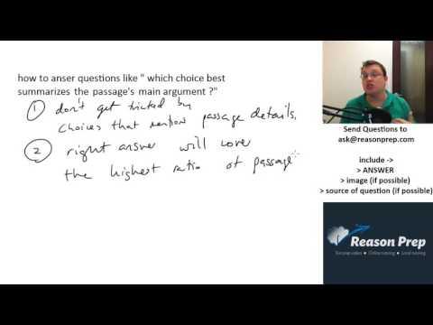2 Tactics for Main Idea Questions (SAT & ACT Reading) -- Just Pick C #36