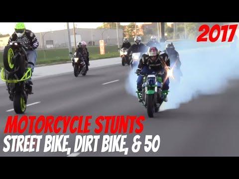 Extreme Motorcycle STUNTS 🔥 On Streets 2017 Street Bike Dirt Bike & 50 Stunt Bikers DRIFT + WHEELIE