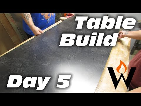 MAKE A TABLE - Applying laminate to particle board | Day 5