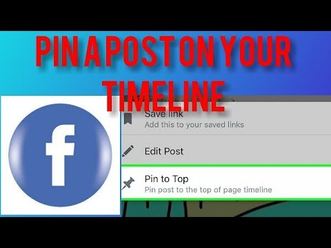 How to pin post on Facebook page using mobile