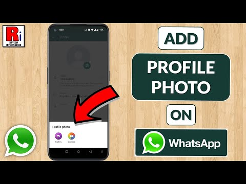 HOW TO ADD PROFILE PICTURE IN WHATSAPP