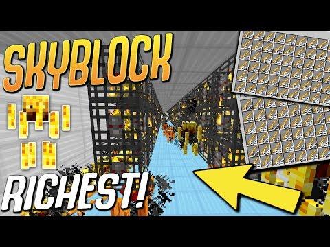 Building RICHEST & BIGGEST BLAZE Grinder On The Server! (Minecraft Skyblock) #21