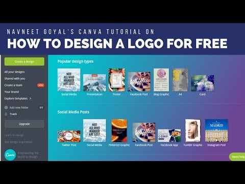 How to Design a Logo for FREE Without Using Photoshop | Canva Logo Design Ttorial in Hindi