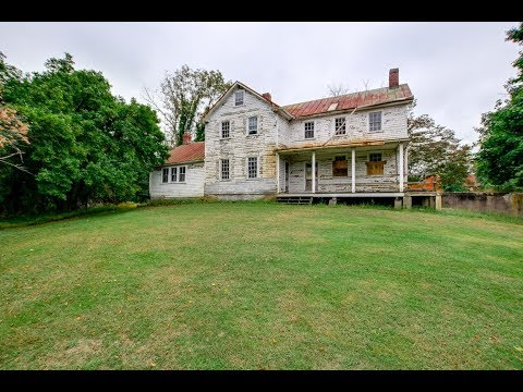 A Beautiful White Farmhouse Fixer-Upper for Sale in Brookville, Maryland