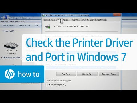 Check the Printer Driver and Port in Windows 7