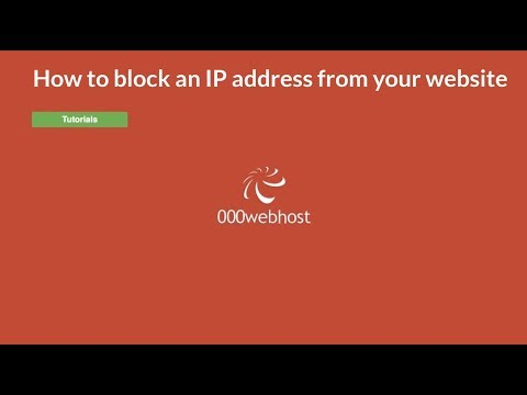 How to block an IP address from your website using NiuX