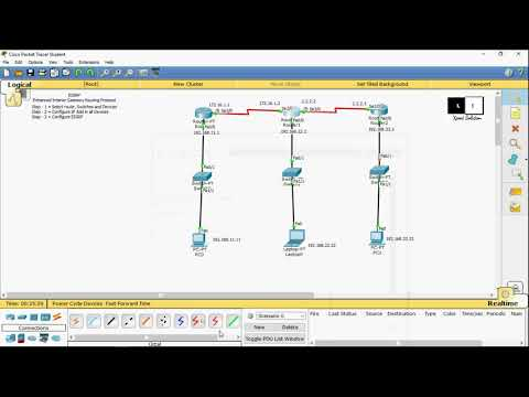 #8 How to Configure EIGRP in router | Commands |  Cisco packet tracer