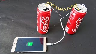 How to CHARGE MOBILE using Coca Cola can and Lemon