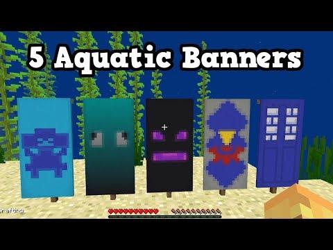 Minecraft 1.13 / 1.3 - Top 5 UNDERWATER BANNERS