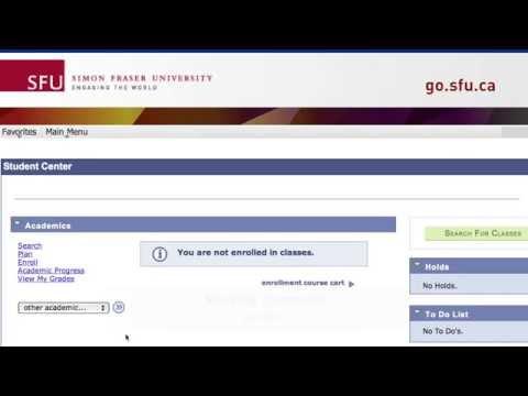SFU 101 -- Academic Requirements