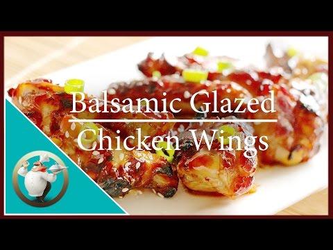 Honey Glazed Chicken Wings |  Easy Balsamic Glazed Chicken Wings Recipe