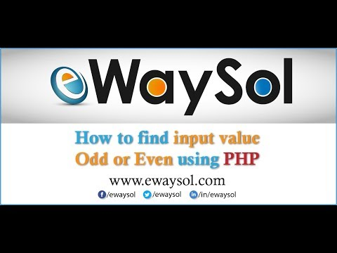 How to find input value odd or even using PHP   eWaySol