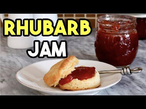 Homemade Rhubarb Jam and Spread