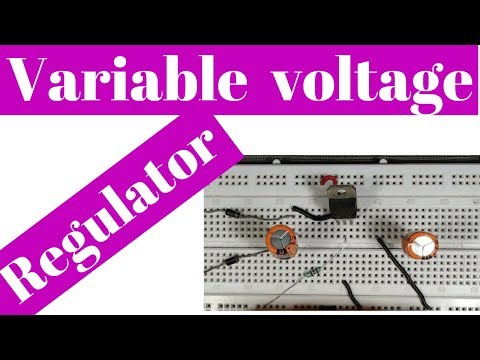 how to make a variable dc power supply | make adjustable dc power supply On breadboard