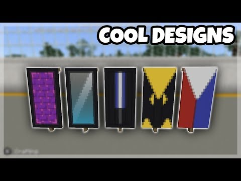 MCPE Tutorials: 5 Cool Banner Designs!!! Minecraft PE 1.2 Update