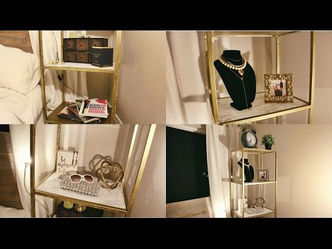 EASY DIY ▸ GOLD & MARBLE SHELVING UNIT (IKEA HACK!)