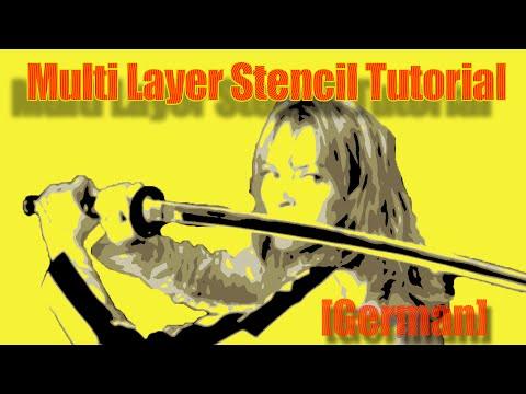 Multi-Layer Stencil Tutorial Photoshop [Deutsch]