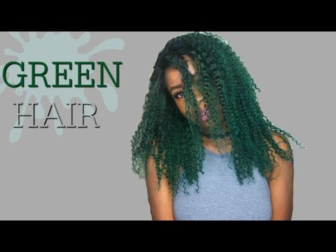 HOW I DYED MY HAIR GREEN| La Riche Directions