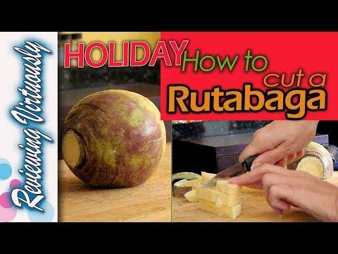 Holiday How To Cut a Rutabaga or Turnip, DIY