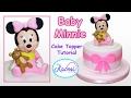 How to make Baby Minnie Mouse (Cake Topper) / Cómo hacer a Minnie Bebé para tortas