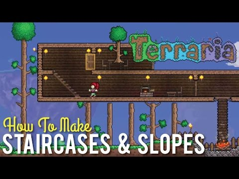 How to Make Staircases and Slopes in Terraria