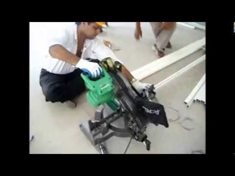 aluminium sliding window precise cutting by laser machine
