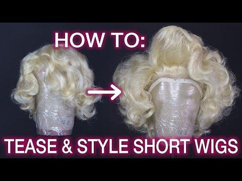 How To Tease & Style Big Marilyn Monroe Hair!