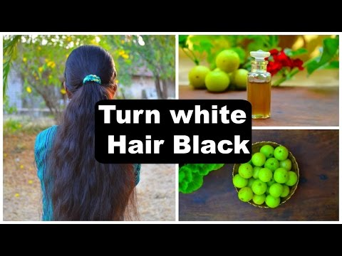 2 White Hair Treatments At Home Naturally | Turn White & Grey Hair To Black Permanently