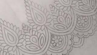 Salwar Kameez Border Drawing | Jana Art Live