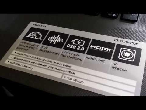 How To Install Acer E5-473G-352Y via USB
