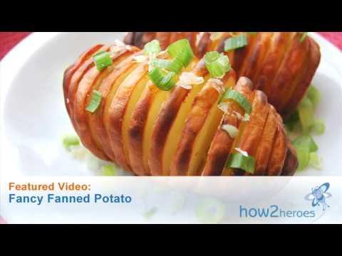 Fancy Fanned Potatoes