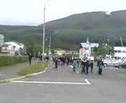 National Day Parade in Husavik Iceland 2008