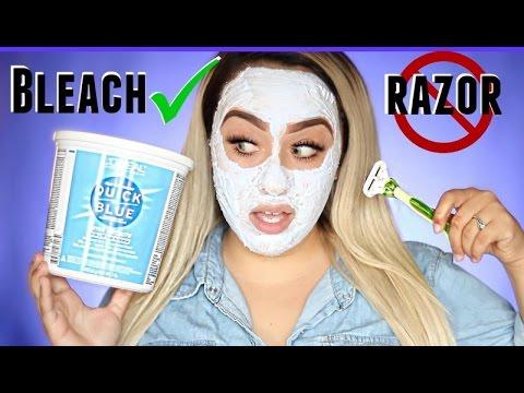 BLEACHING MY FACE!? Facial Hair Removal Method Using Bleach