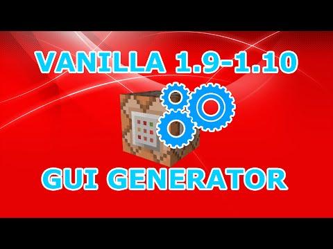 [Minecraft 1.9-1.10+] Vanilla GUI Menu Generator