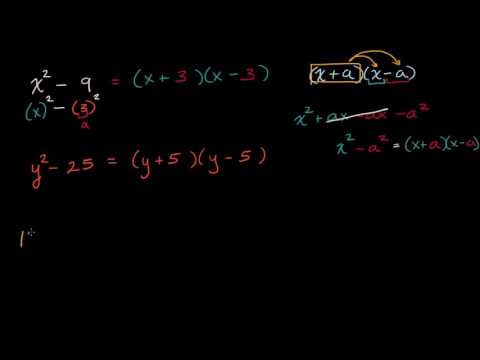 Difference of squares intro   Mathematics II   High School Math   Khan Academy