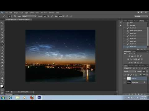 How to Make a Starry Sky in Photoshop CS6
