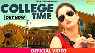 College Time || Nippu Nepewala & Shivani Raghav, D Saini || Haryanvi New Full Song 2017