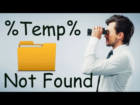 Windows Solutions - Temp Folder Not Found Using %temp%