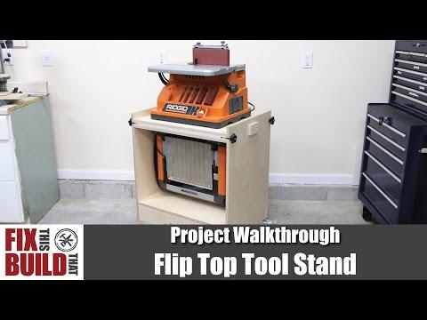 Flip Top Tool Stand for Planer & Spindle Sander | DIY Woodworking Storage
