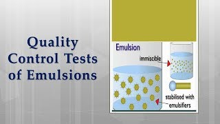 Quality control tests for emulsions  with lab performance