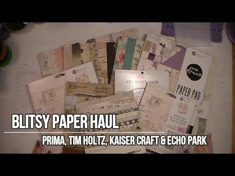 Blitsy Paper Pad Haul For April