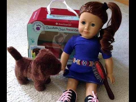 American Girl Doll Saige + Chocolate Chip