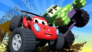 THE BEST OF MONSTER TRUCKS CARTOON COMPILATION ! Monster Town - Monster Trucks Cartoons for kids