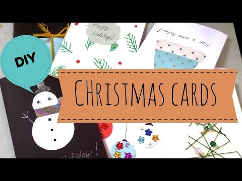 DIY Easy Handmade Christmas Cards | Holiday Greeting Card Ideas for Kids 2017  | by Fluffy Hedgehog