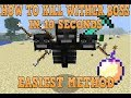 How To Kill Wither Boss Easy