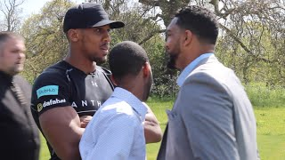HEATED WORDS EXCHANGED !! - ANTHONY JOSHUA v DOMINIC BREAZEALE SEPERATED DURING HEAD TO HEAD