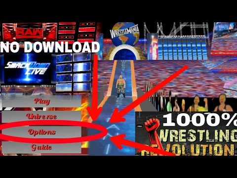 WR3D-How to play ALL ARENAS IN 2K17MOD(No Download,Wrestling