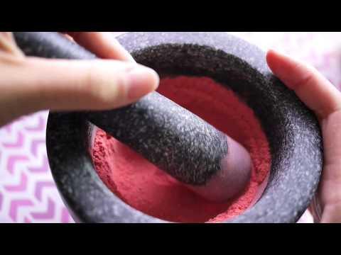 ASMR Mortar & Pestle: Strawberry Powder