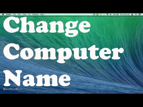 How to Change Computer Name on Mac OS X Mavericks